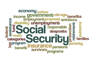 social security Word Cloud from Disability Benefits Health.org